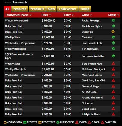 Drake Casino Tournament Schedule